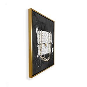 oliver gal shiny gold framed art