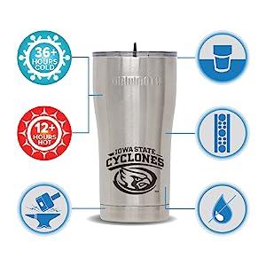 tumblers, drinkwares, collegiate drinkwares, collegiate tumblers, stainless drinkware