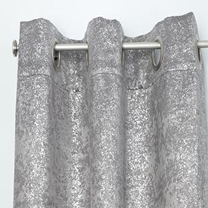 metallic triple layered blackout curtain