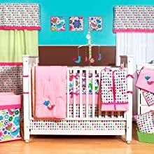 Girls 10 pc Crib Set with Bumper Pad