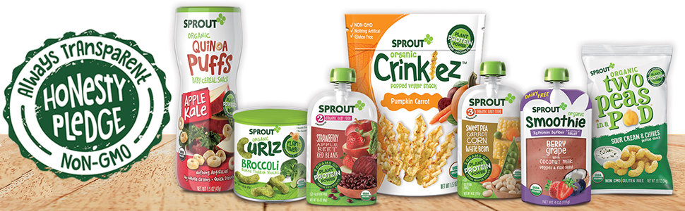 sprout organic baby food and snacks