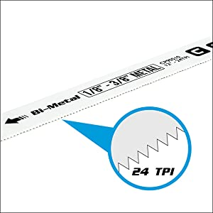 capri tool teeth per inch