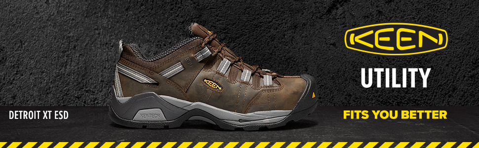 KEEN work boot, industrial, work boot, steel toe, safety toe, construction, leather boot, ESD