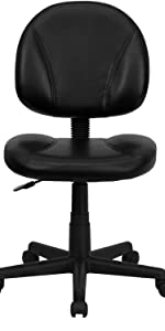 Black Mid Back Task Chair