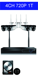 wireless security camera system 1080P
