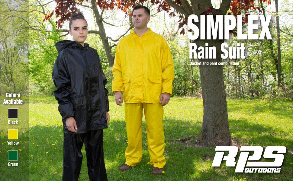 RPS SIMPLEX ADULT RAIN SUIT, ADULT RAIN SUIT
