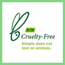 CRUELTY-FREE CERTIFIED BY PETA