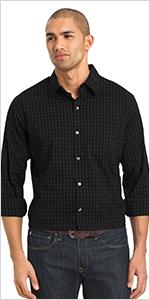 van heusen traveler stretch long sleeve shirt, mens shirts, mens long sleeve shirts