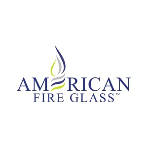 American Fireglass Classic Fire Glass with Fireplace Glass and Fire Pit Glass, 1/4-Inch