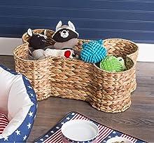 pet storage,toy storage,toy basket,home decor,dog toy basket,storage bin,pet toy storage