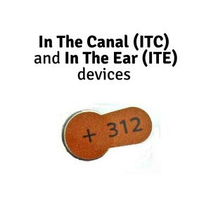 in the canal hearing aid size hearing aid batteries size aids mercury free device a end