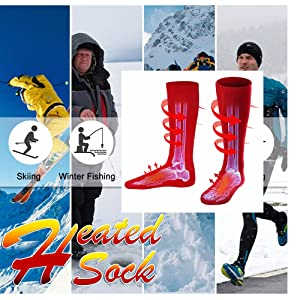 unisex winter warm rechargeable electric heated socks battery powered heat sox kit for men women