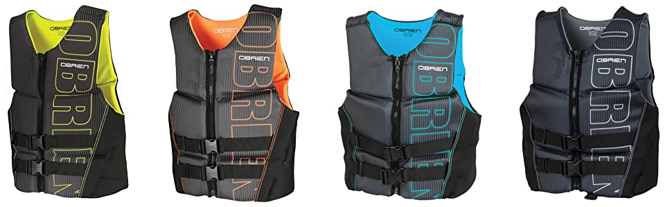 O'Brien, Flex, v-back, life- jacket, vest, pfd, boating, boat, gear, safety, USCGA,