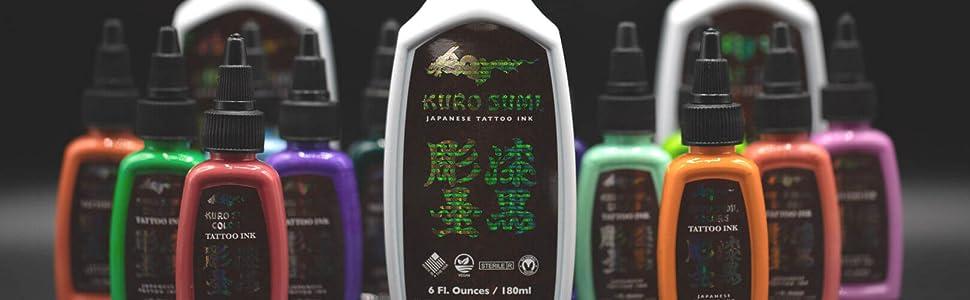kuro Sumi tattoo ink color pigment