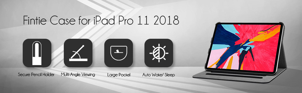iPad Pro 11 case with pencil large pocket