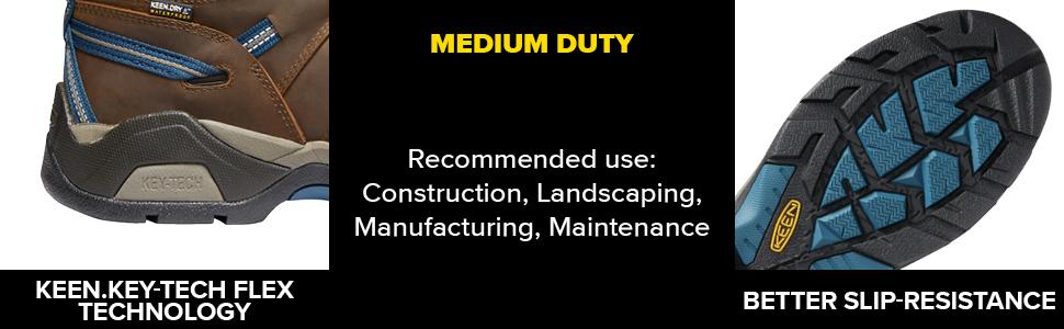 KEEN Utility work boot construction maintenance key-tech slip resistant waterproof