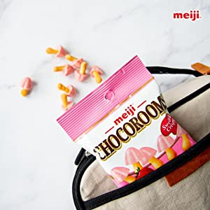 meiji chocorooms chocolate treats cookie cracker biscuit snack treat to go container portable travel