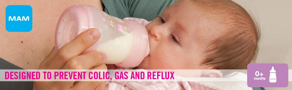 mam, baby, bottle, bottles, anti-colic bottles, bottles for colicky babies