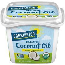 Carrington Farms Organic, Unrefined, Cold Pressed, Pure Coconut Oil, 12oz.