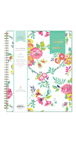 blue sky planners and calendars, day designer peyton white collection, 2020-21, weekly monthly