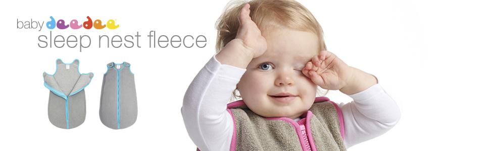 baby deedee sleep nest fleece midweight wearable sleeping bag