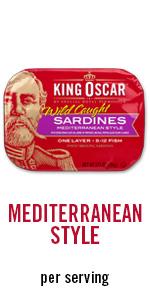 sardines, meal, per servings, protein