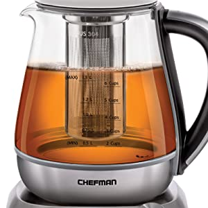 camping,adjustable,water boiler,automatic shut off,travel kettle,small,compact,sleek,6 cup capacity