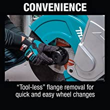 convenience tool-less flange removal quick ease wheel changes replace move switch