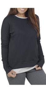 Essentials, french terry, long sleeve crew, ladies, comfy