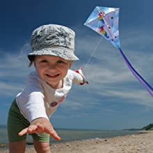 Wind N Sun - Little Girl Flying the MiniDiamond Unicorn Kite