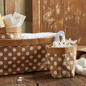 bathroom;vanity;storage;organization;ideas;basket;organizer;toiletries;nursery;shower gift;boy;girl