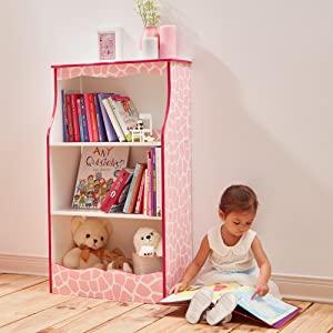 fashion print, girls book shelf, girls book case, girls storage, kids storage, girls furniture