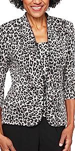 petite, twin set, tank top, jacket, blazer, cami, mandarin neck, hook and eye, elegant womens top
