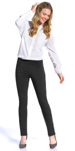 Narrow Leg Slimming Pant for Women wear to Work Pull-On Easy On Stretch Pant for women