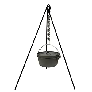camping, cook, stand, tripod