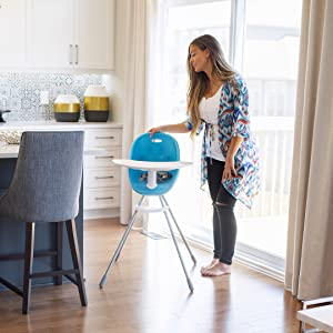 highchair in home