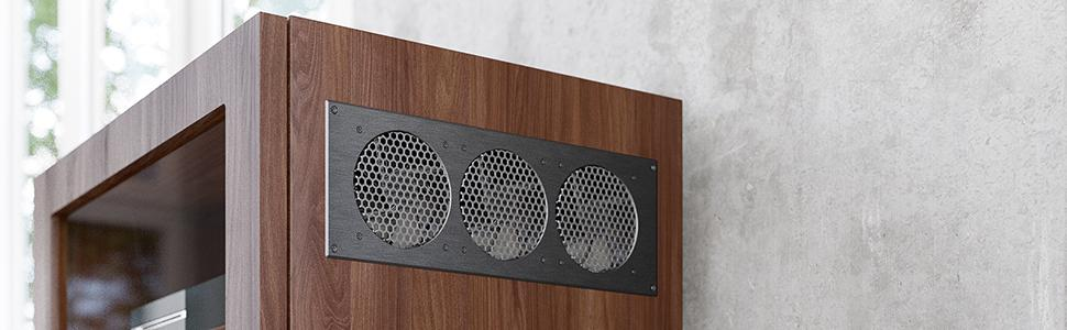 home theater cabinet, audio video cabinet fan, quiet cabinet cooling fan, av cabinet fan, home theat