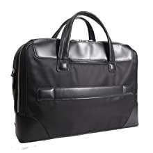 Piggyback strap, nylon/leather briefcases