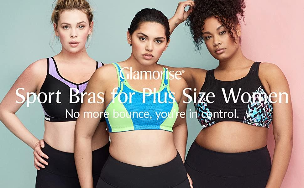 glamorise sport bras for plus size women elite performance bounce control lady hiit workout sweat