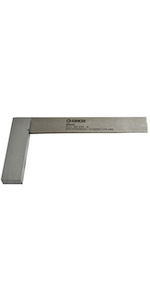 Groz 6-inch Machinist Steel Square | 16 Micron Squareness