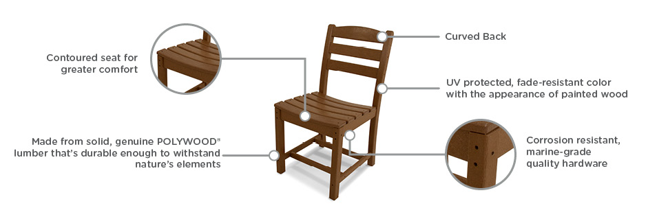 outdoor furniture;patio furniture;porch;composite;lawn furniture;all weather;recycled;dining chairs