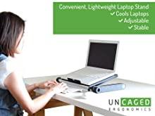 adjustable height angle ergonomic laptop cooling stand riser lap desk