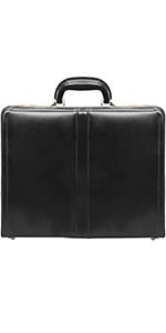 "Black Leather 3.5"" Attaché Briefcase"