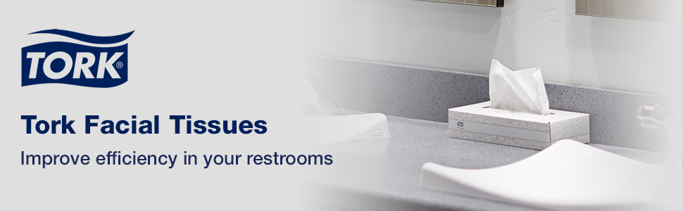 Tork Facial Tissues improve efficiency in your restrooms