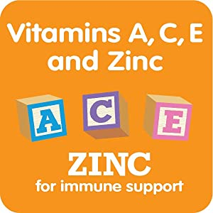 vitamins A, C, E & Zinc for immune support