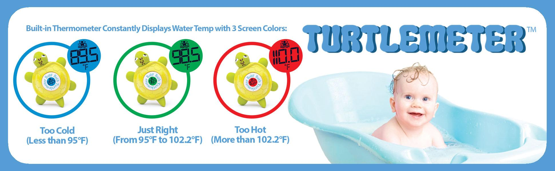 Turtlemeter The Baby Bath Floating Turtle Toy And Bath Tub Thermometer