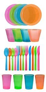 Glow in Dark dinnerware supplies KITB1281