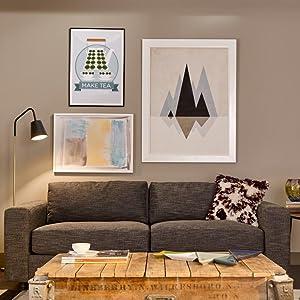 living room, matte paint, flat paint, no sheen
