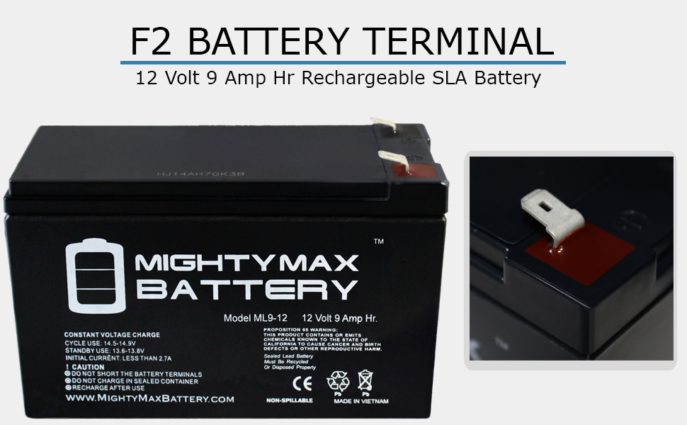 replacement battery for scooter mighty max ml9-12 ub1290 replacement battery for alarm fios lighting
