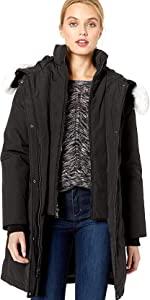 Warm Winter Parka with Fox Fur Trimmed Hood